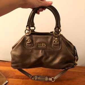 ~2005 Coach bag in bronze leather